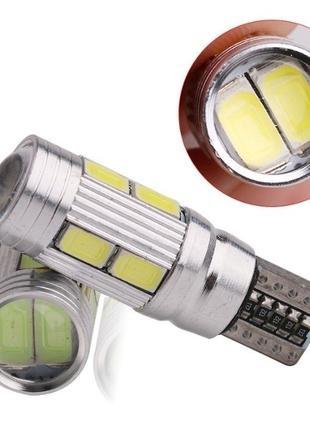 T10 w5w COB LED Canbus лампочки в габаритные огни светодиодные