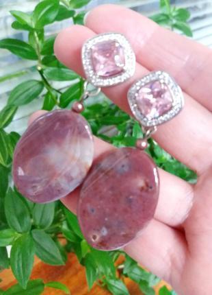 Серьги с натуральным камнем. арт. 77