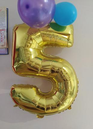 Цифра Гигант 5 або 2 для Фотозони Шар надувной