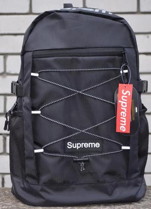 Рюкзак supreme big bag  black портфель сумка суприм черный жен...