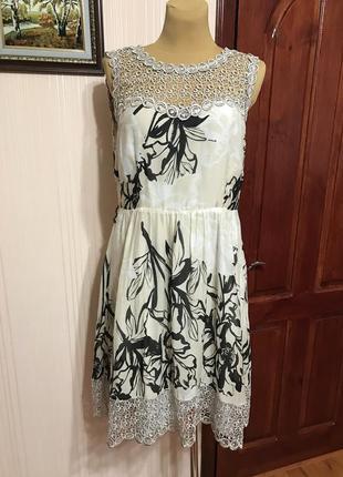 Нарядное платье с шелком в составе