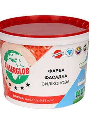 Краска силиконовая фасадная Anserglob, 14 кг Anserglob