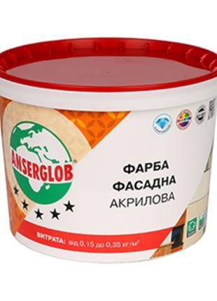 Краска акриловая фасадная Anserglob, 14 кг Anserglob