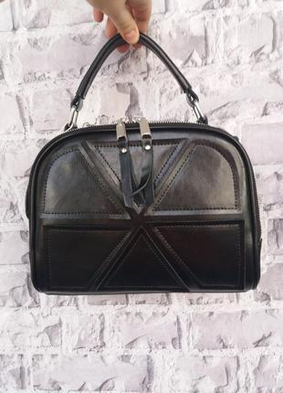 Шкіряна жіноча сумка чемоданчик клатч кожаный шкіряний шкіряна...