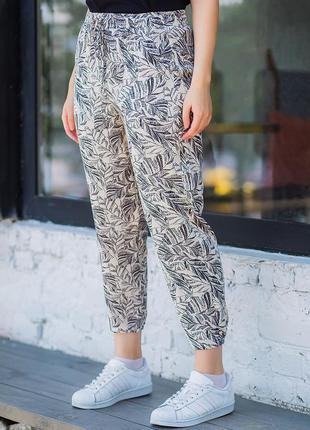 ⚛️  летние брюки на резинке больших размеров 3022