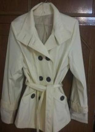 Женский весенний осенний плащ пиджак куртка 48 размер