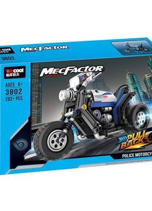 """Конструктор Decool 3802 """"Полицейский мотоцикл"""" 282 детали"""