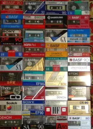 Аудиокассеты новые