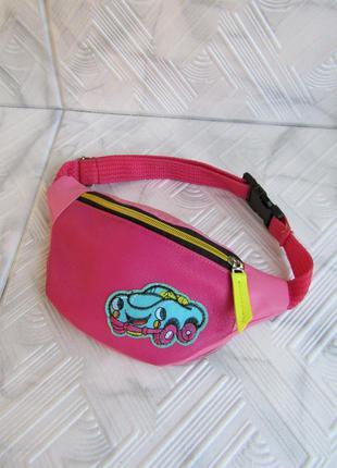 "Распродажа! розовая бананка handmade для малышки ""бибип"""