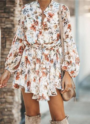 Яркое летнее платье в  цветочный принт💟