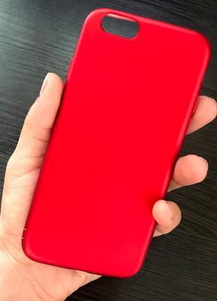 Силиконовый  чехол для IPhone 6 Красный