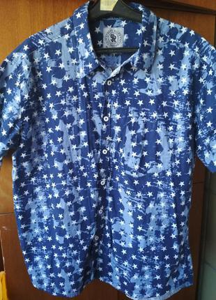 Мужская пляжная рубашка со звездами street rules сша, новая, х...