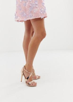 Босоножки office hagan rose gold strappy heeled sandals