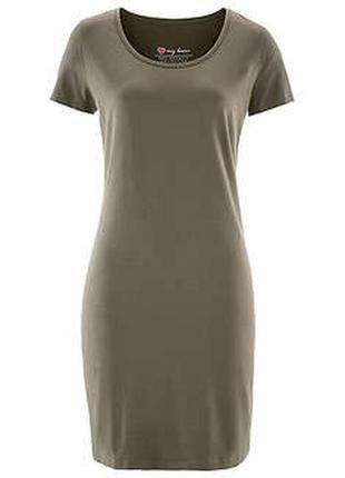 Платье хаки большой размер
