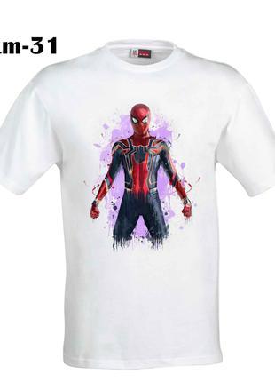 Мужская футболка с принтом человек паук
