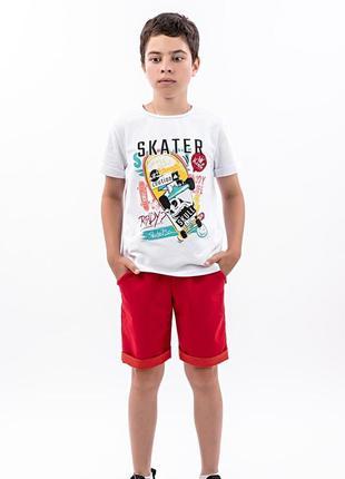 Костюм футболка и шорты для мальчиков, красный