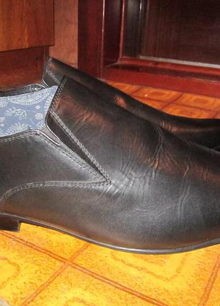 Кожаные туфли р 48 ст 35-36 см