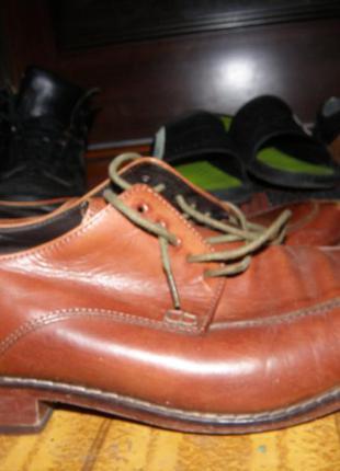 Коричневые кожаные туфли 43-44 р