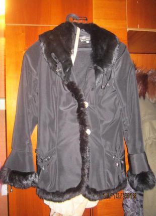 Куртка с мехом кролика р хс