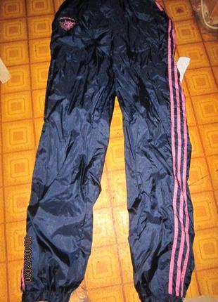 Винтажные штаны адидас с высокой посадкой