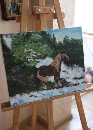 Картина, лошадь, интерьер