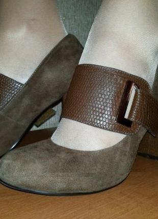 Туфли замшевые коричневые