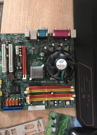 Материнка сокет 775 ддр 3 с процессором 2 ядерным