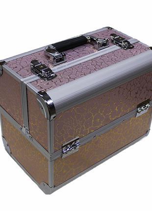 Beauty-кейс металлический розовый