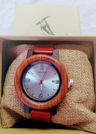 Новые женские часы bobo bird на лакированном кожаном ремешке