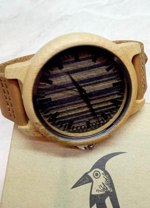 Новые мужские деревянные часы bobo bird (темно-коричневые)