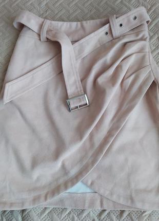 Красивая мини-юбка simplee на молнии (s)
