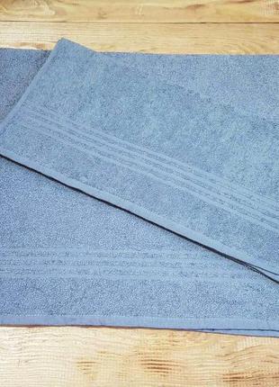 Полотенце для лица и рук серое 50 х 90 см miomare