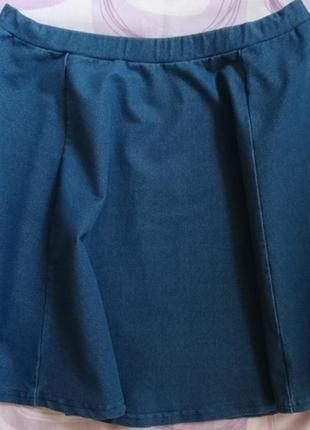 Юбка джинсовая расклешенная