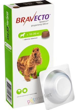 Bravecto (Бравекто) таблетка от блох и клещей для собак 10-20кг