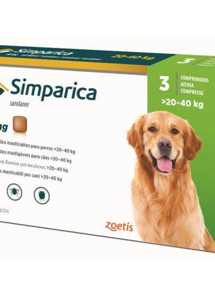 Simparica (Симпарика) от блох и клещей для собак 20-40кг