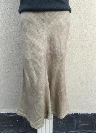 Лен100%,полотняная юбка,в этно,бохо стиле,c.p.company,италия,э...