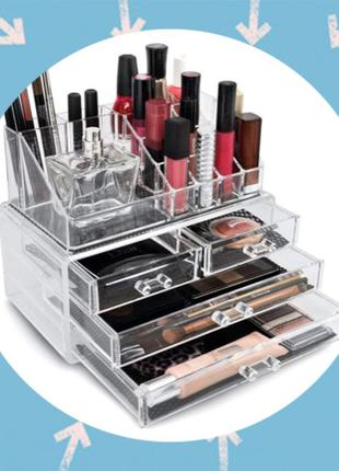 Акриловый органайзер,кейс бокс для косметики Cosmetic Storage Box