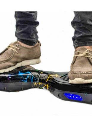 """Гироборд Smart Way 6.5"""" Tao Tao (Приложение к телефону, Led, Blue"""