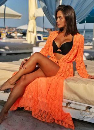 Парео .пляжная туника длинная есть цвета