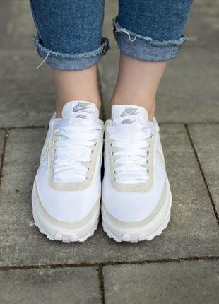 Кроссовки nike sacai белые
