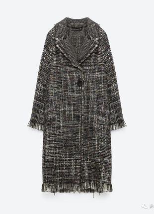 Легкое пальто из буклированной ткани zara
