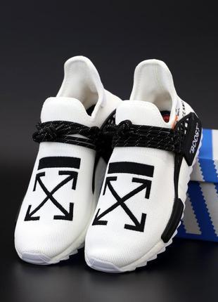 👟 мужские кроссовки adidas nmd human race x off white (арт. 12...