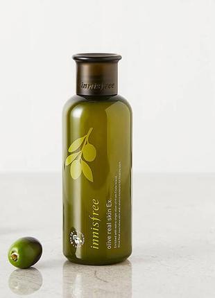 Увлажняющий тонер с органическим маслом оливы innisfree olive ...
