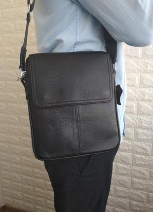 Мужская кожаная сумка чоловіча шкіряна сумка на плече