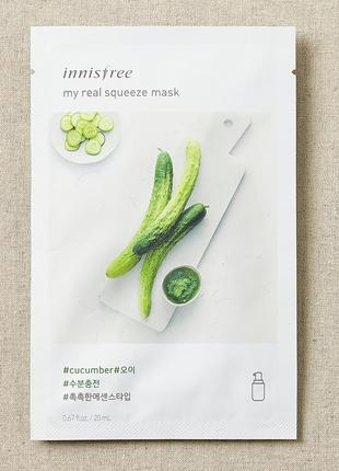 Корейские тканевые маски innisfree my real squeeze mask - cucu...