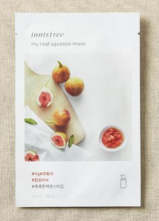 Корейские тканевые маски innisfree my real squeeze mask - fig