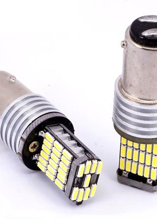 Led лампа стоп/дхо/габарит 1157 P21W BAY15D 45SMD 4014 Canbus (Бе