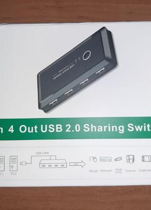 USB switch KVM переключатель для 2 компьютеров переключение 4 ...