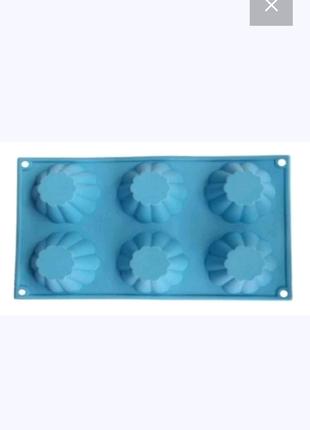 Силиконовая форма для кексов