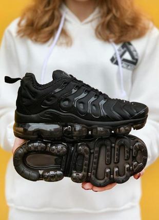 Nike air vapormax tn all black женские стильные кроссовки